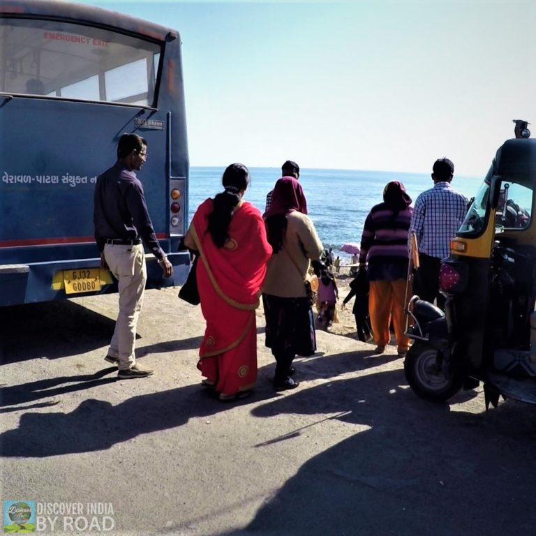 Tourists at Ban Ganga Somnath