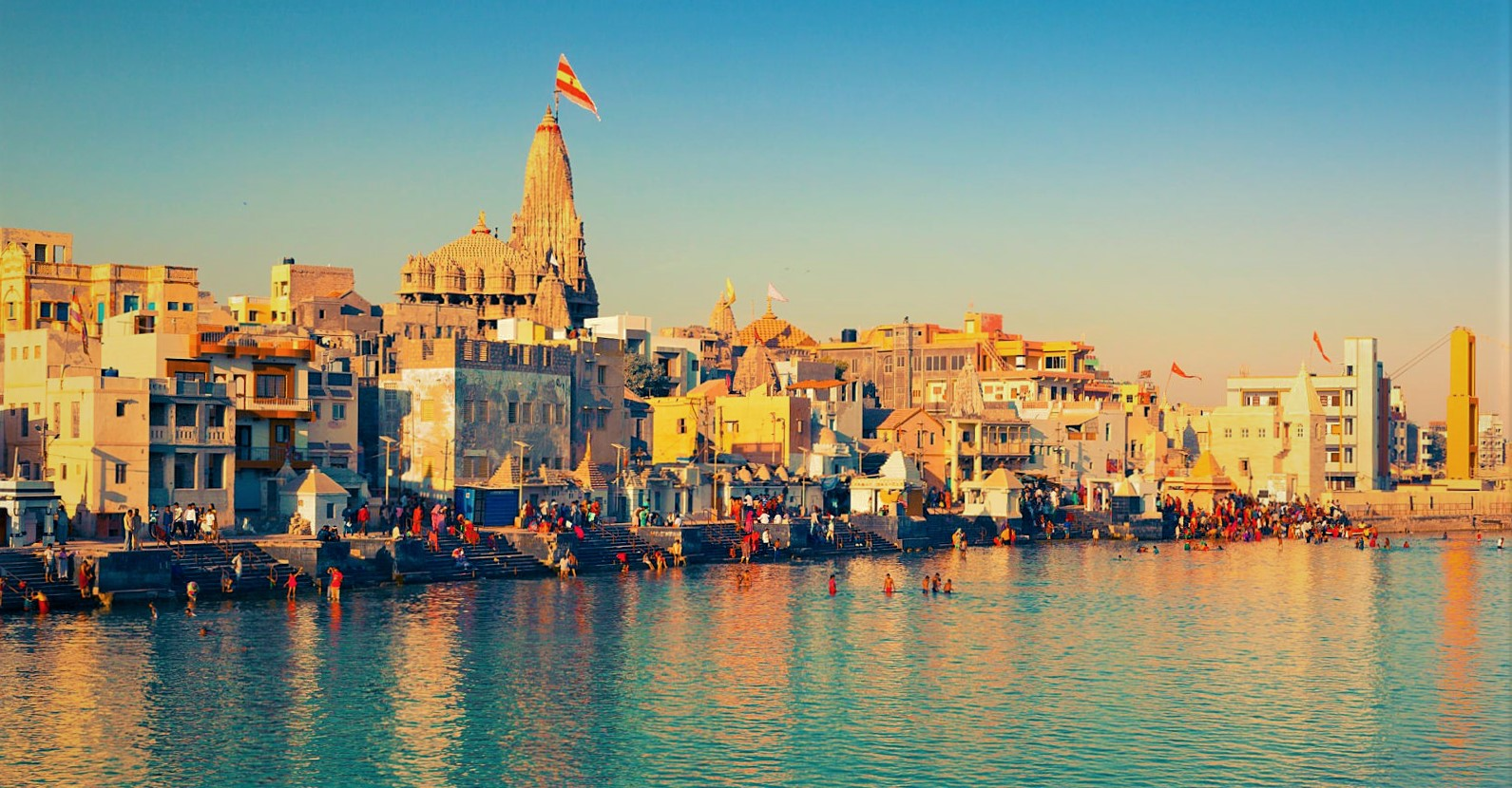 Evening at Dwarka Temple