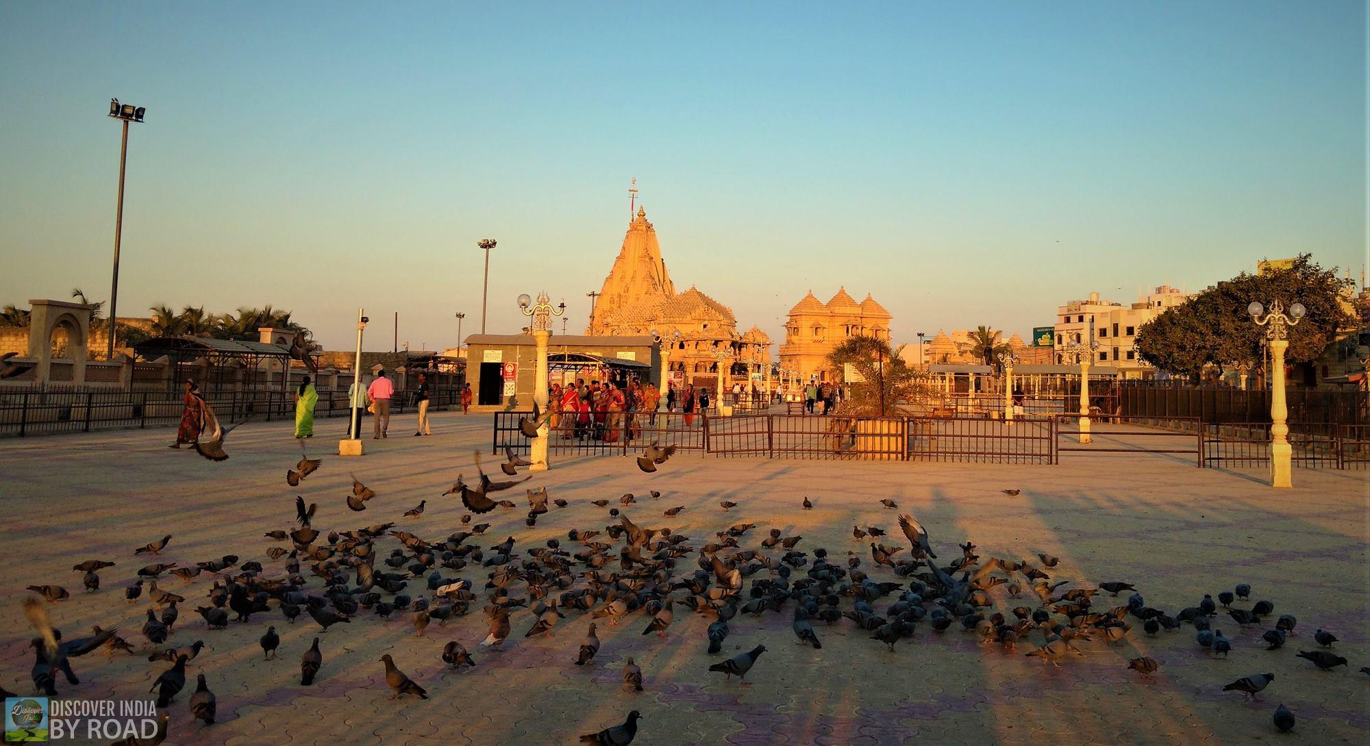 sunrise at Somnath Temple