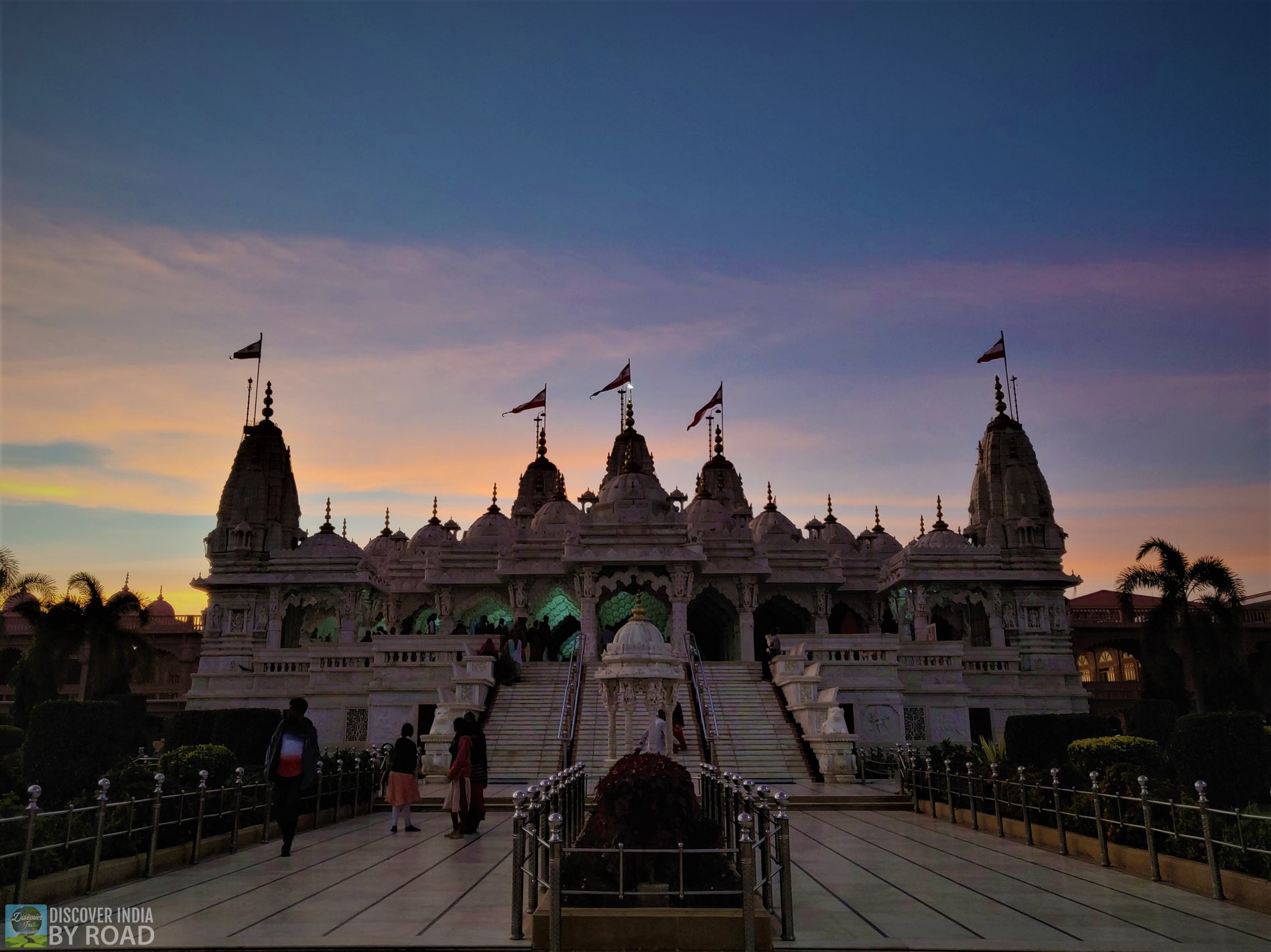 Bhuj Swaminarayan Temple Evening view