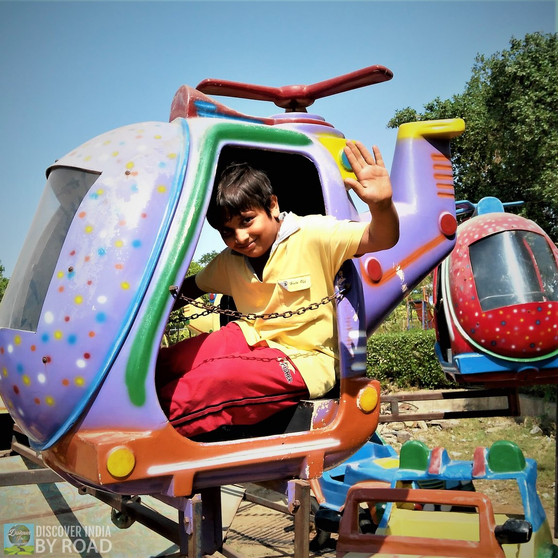 Toy Helicopter ride at hill garden bhuj