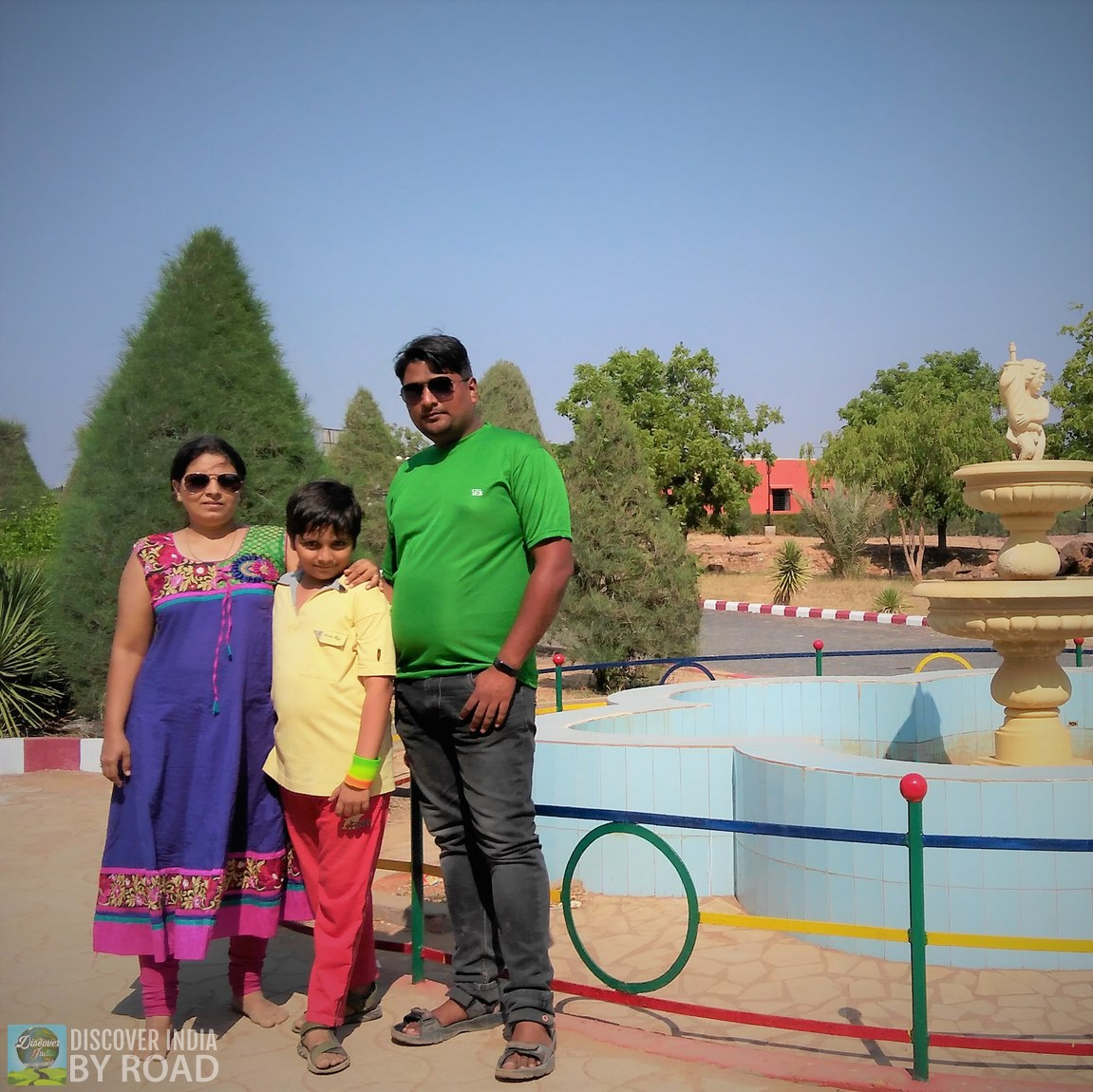 Our family Photo at hill garden bhuj