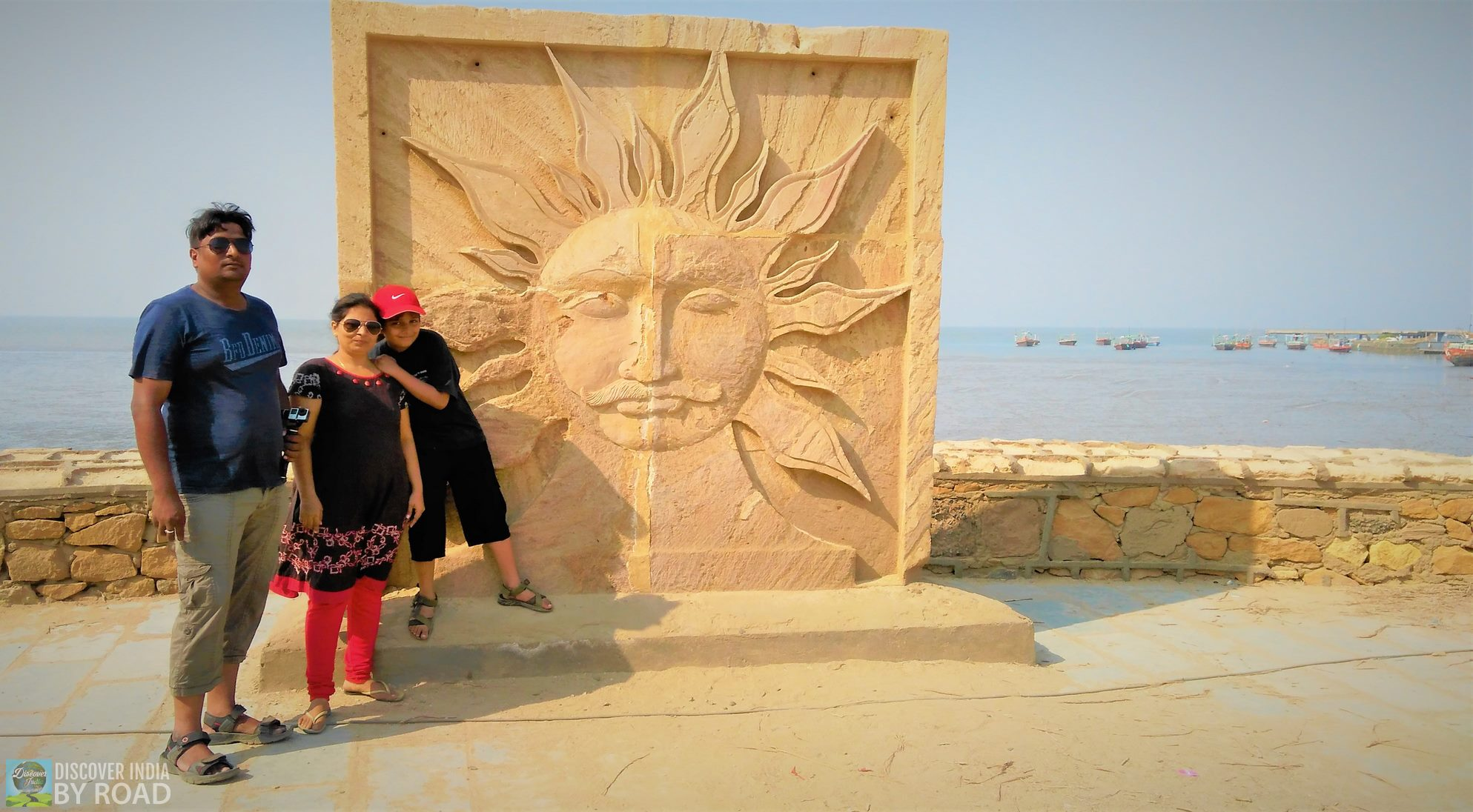 Selfy Point at Koteshwar Jetty with SUN Frame in background