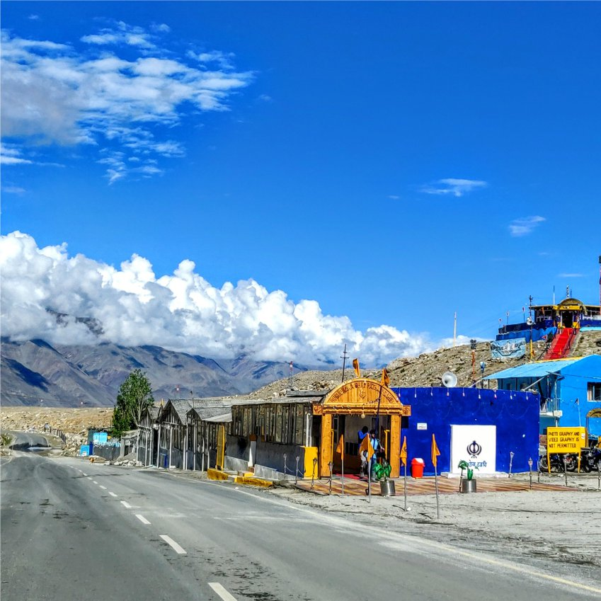 Gurudwara Pathar Sahib on highway